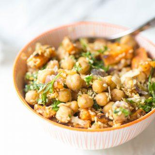 Warm Chickpea and Sweet Potato Salad