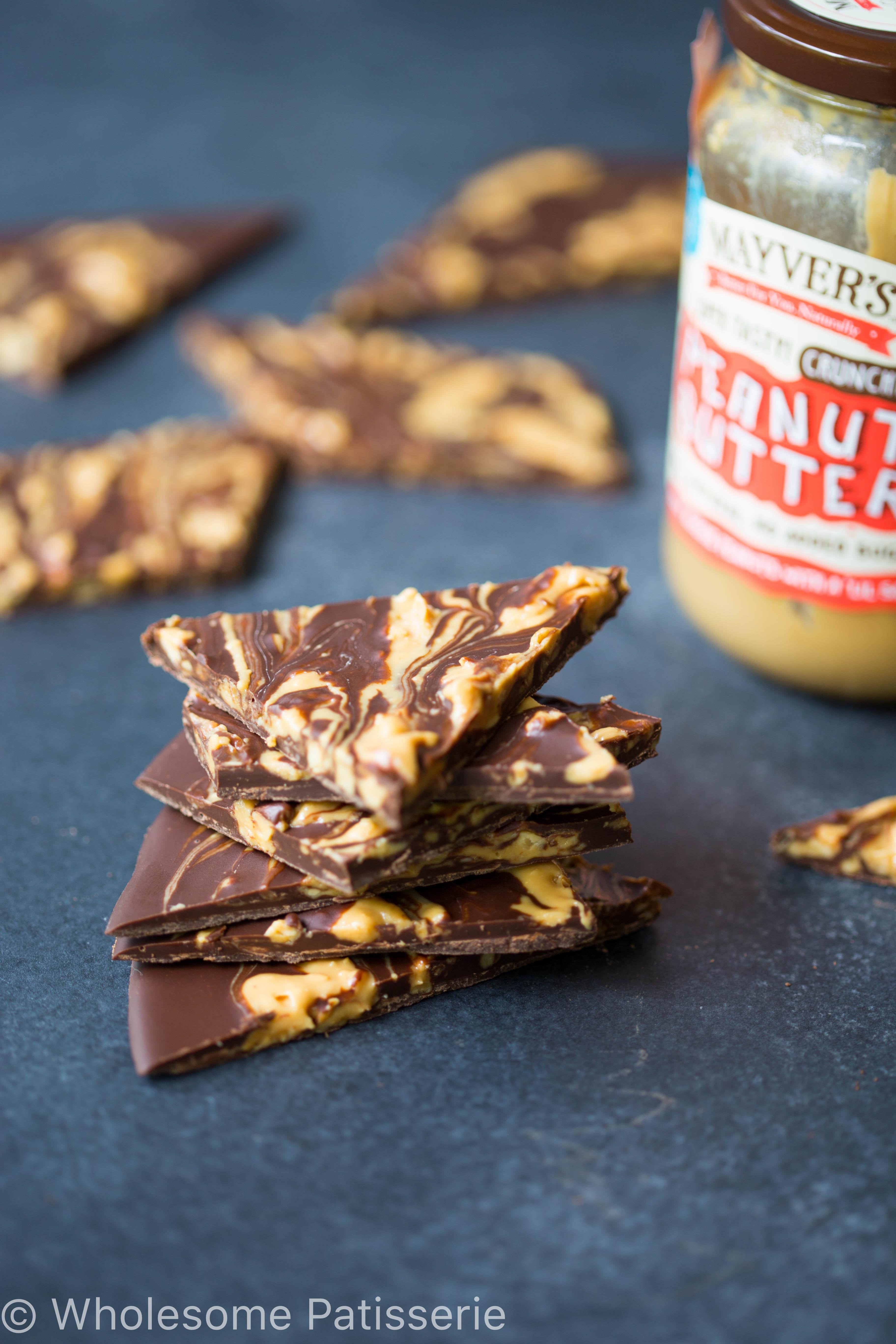 chocolate-peanut-butter-swirl-bark-easy-gluten-free-vegan-simple