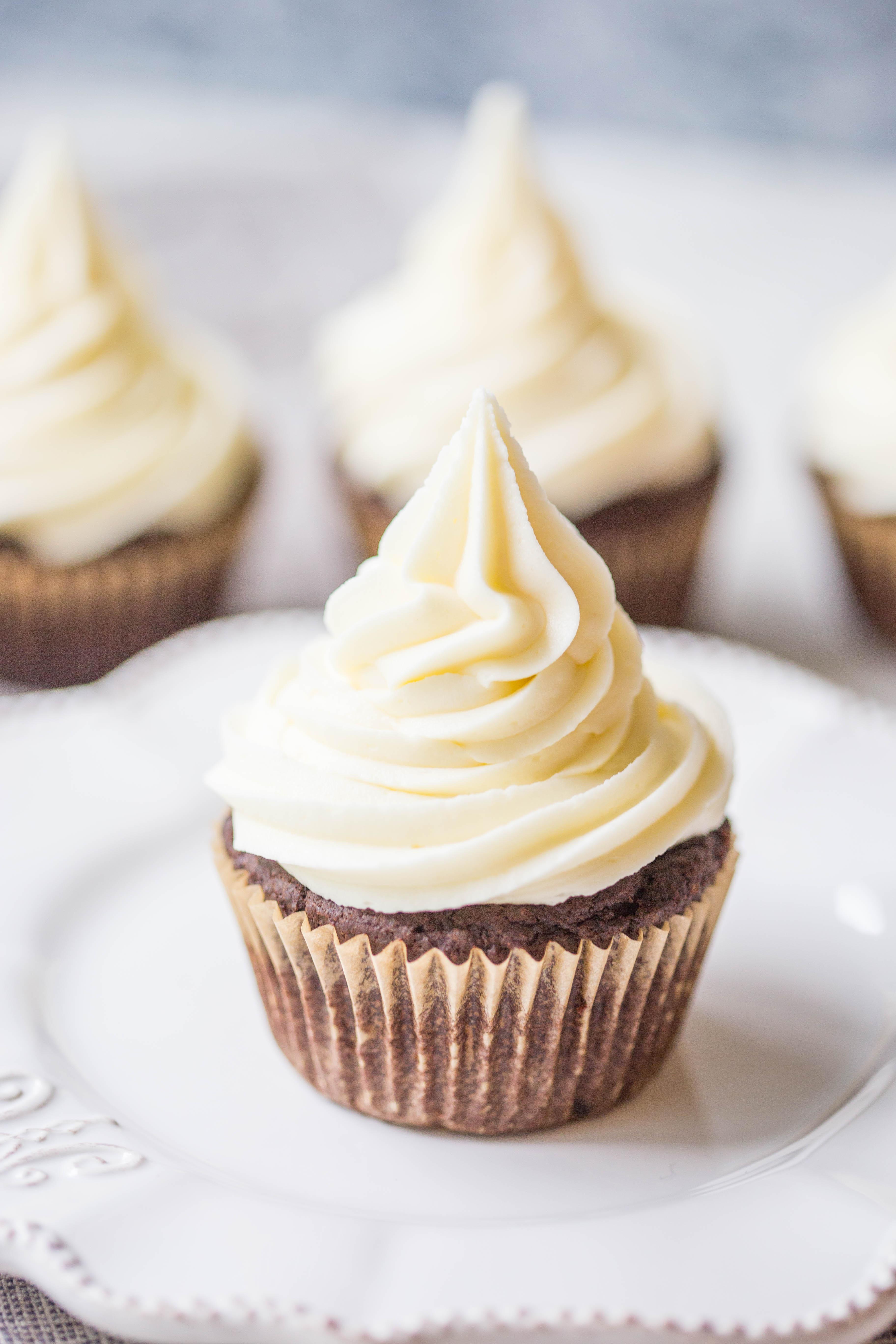 Caramel White Chocolate Cupcakes
