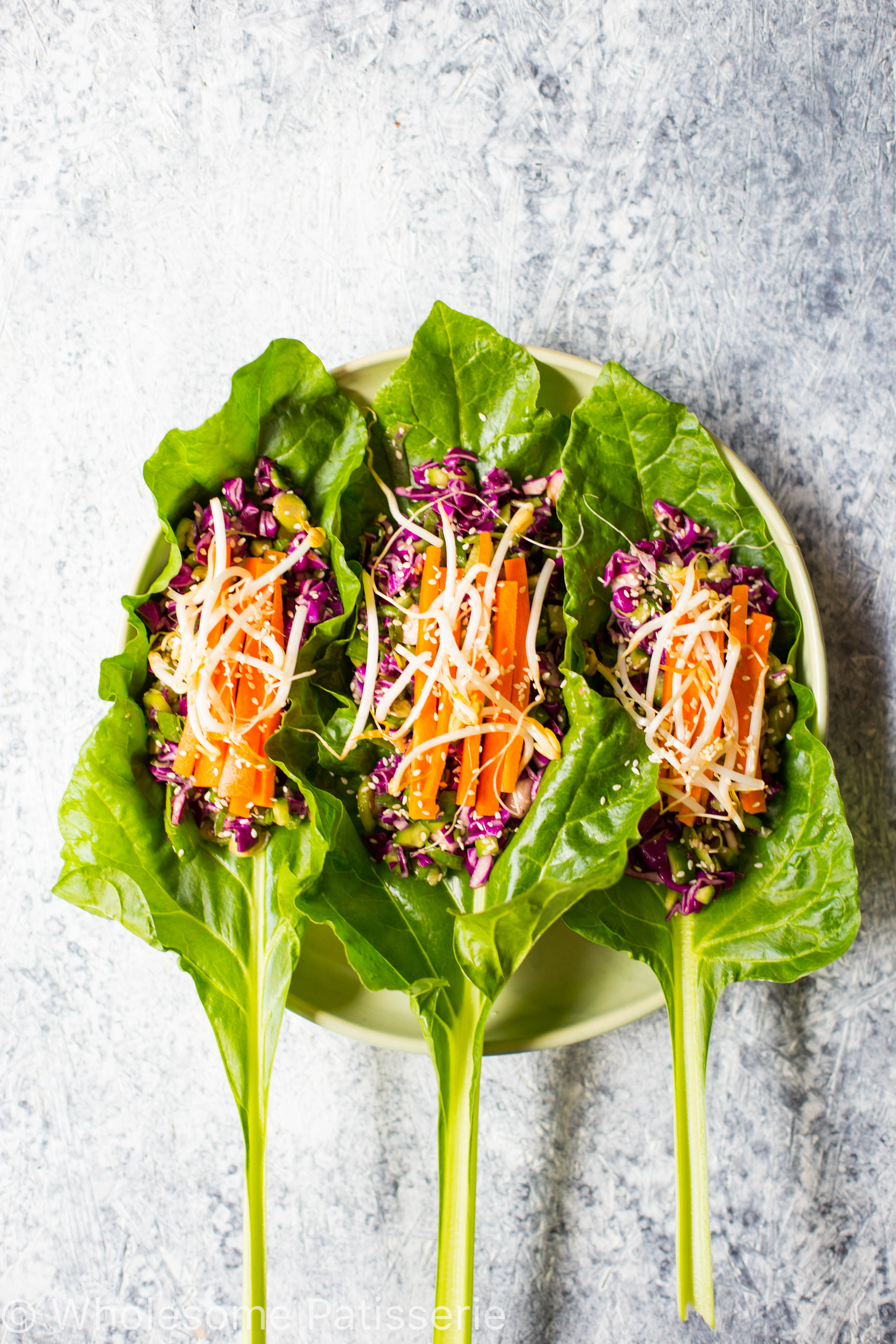 vegan-asian-lettuce-wraps-spinach-gluten-free-amazing-easy-delicious