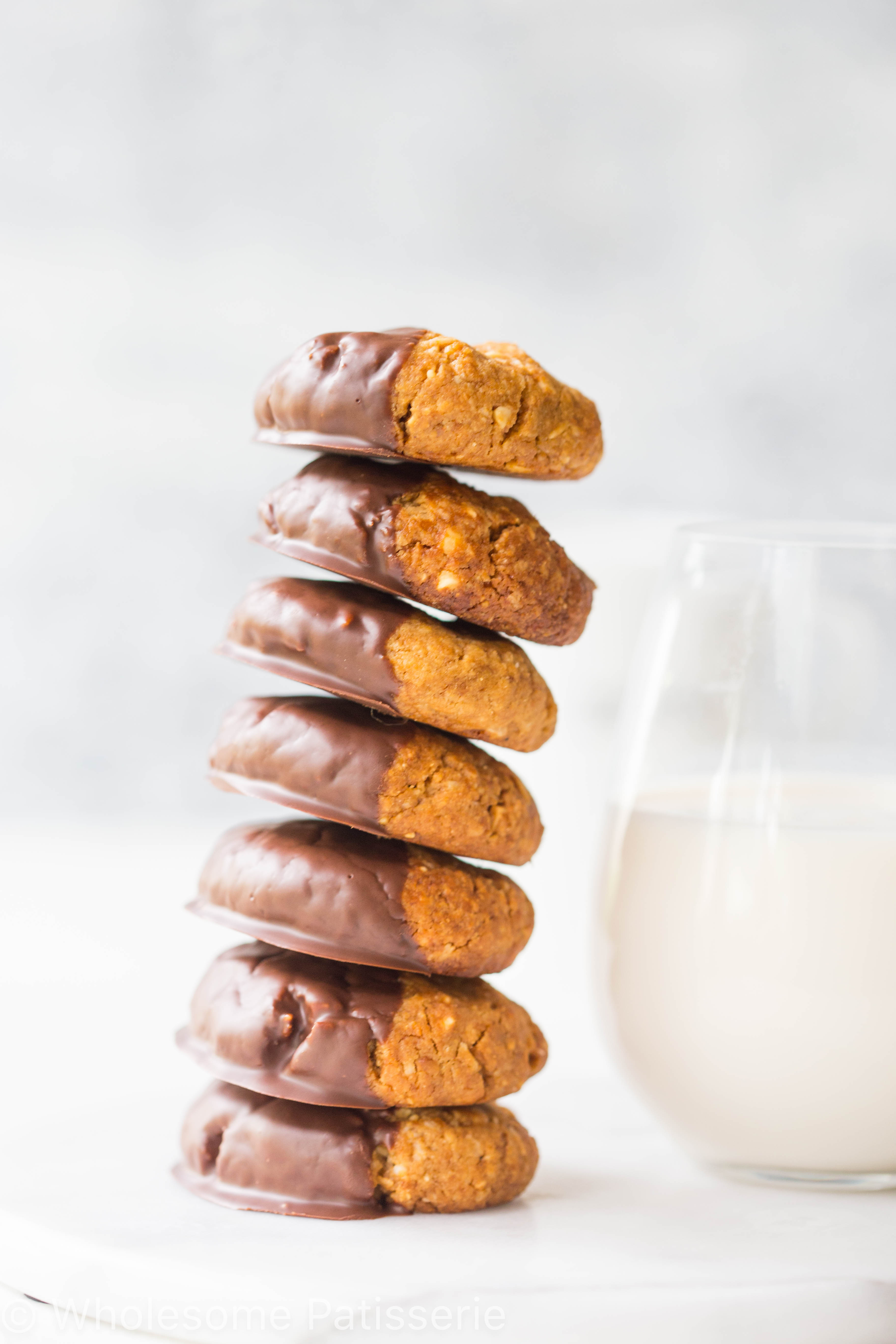 Chocolate Dipped Peanut Butter Coconut Cookies