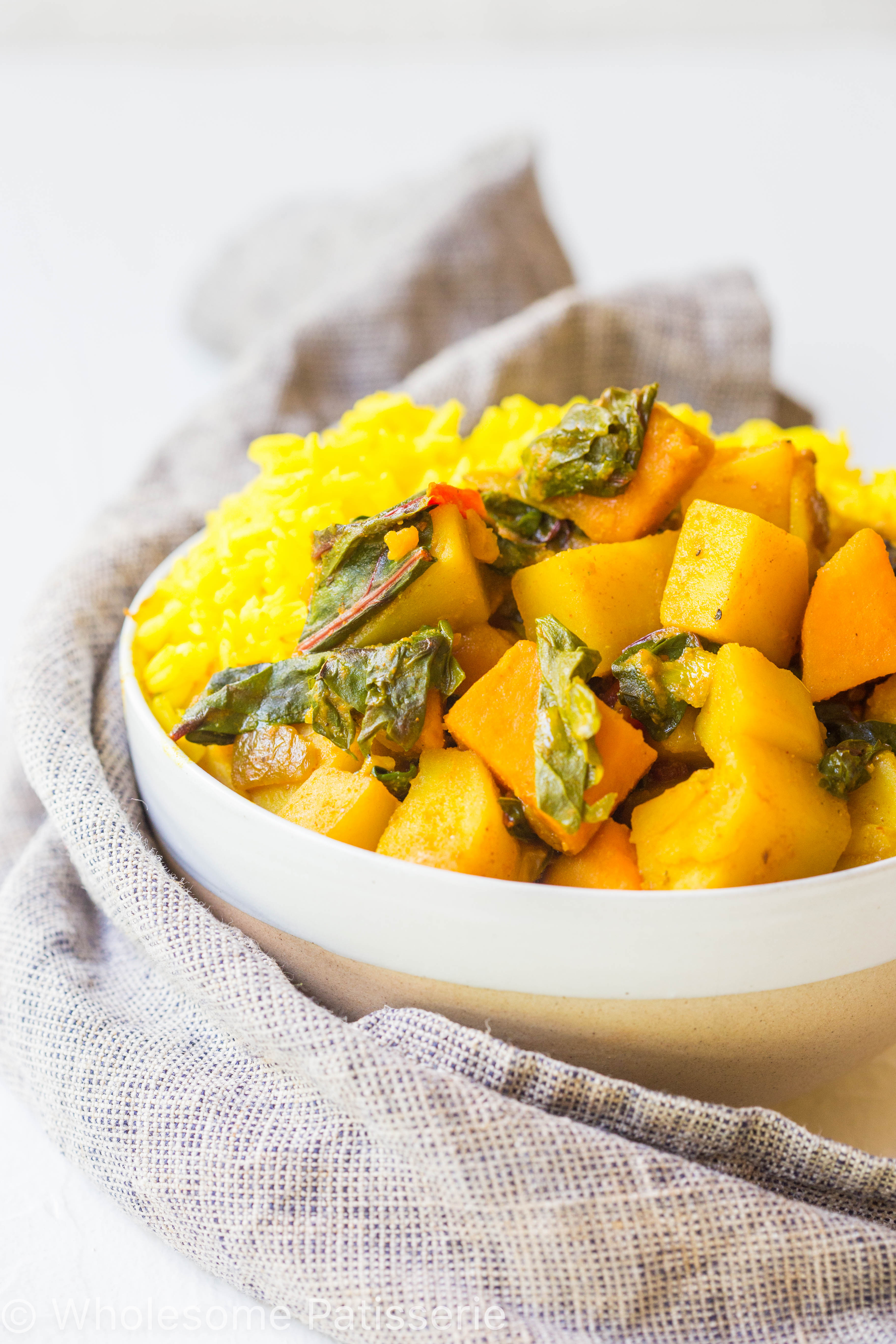 Spicy Potato Spinach Curry