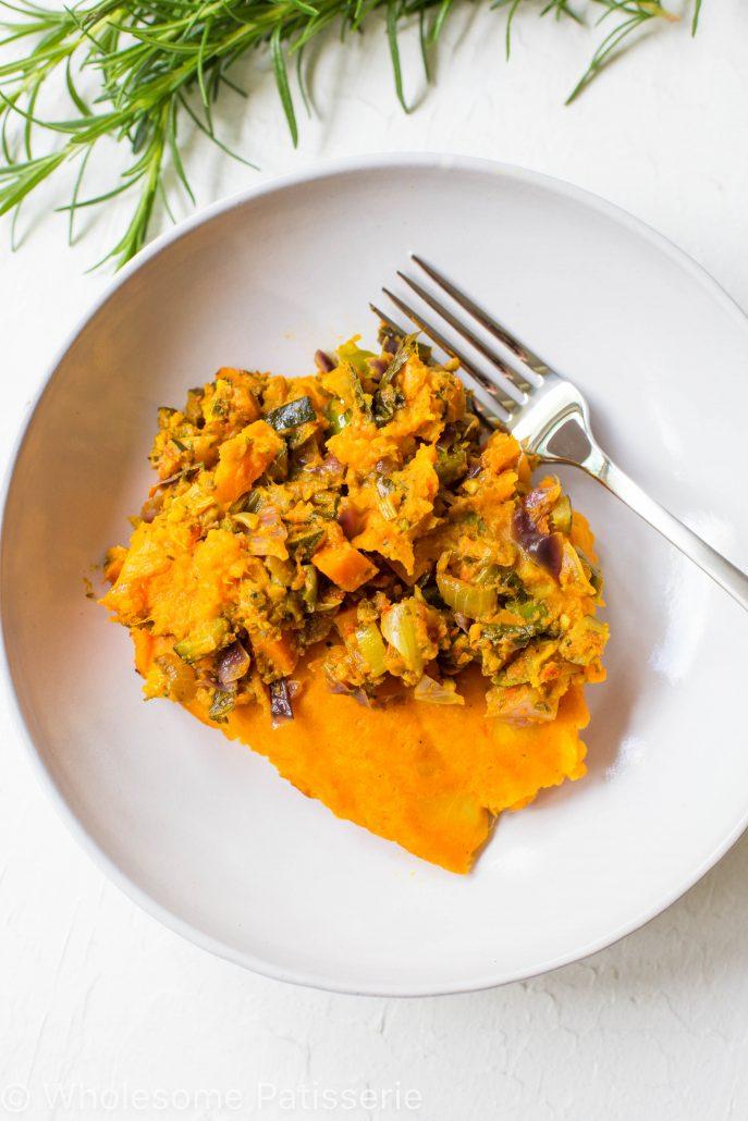 gluten-free-loaded-vegan-shepherds-pie-meatless-easy-vegetarian-delicious-sweet-potato