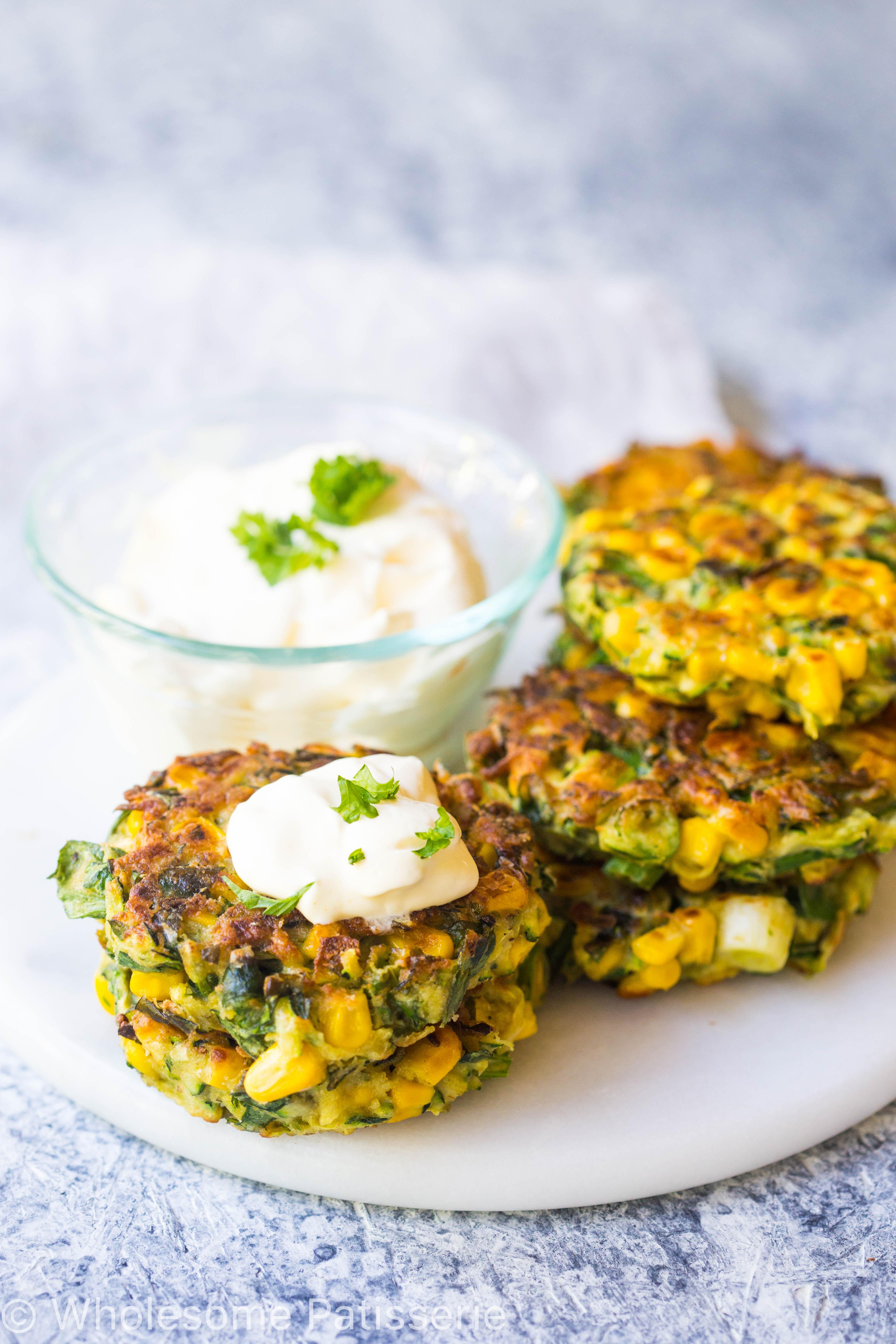 sweet-corn-zucchini-fritters-gluten-free-vegan-vegetarian-side-dish-delicious-dinner-healthy
