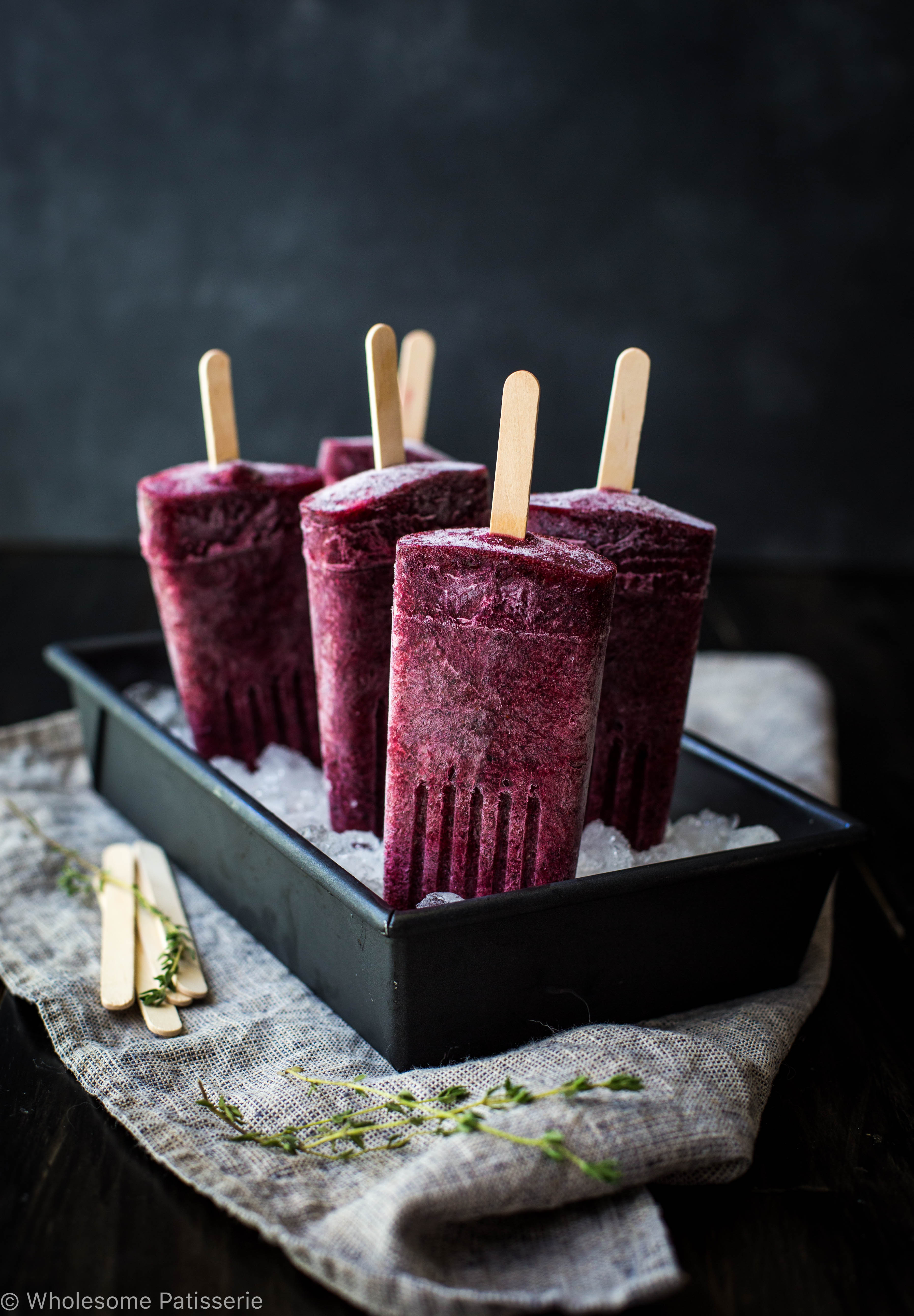 Berry Kombucha Popsicles