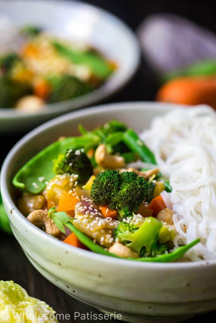 loaded-vegetable-stir-fry-vegan-gluten-free-vegetarian-30-minute-quick-dinner-delicious-greens