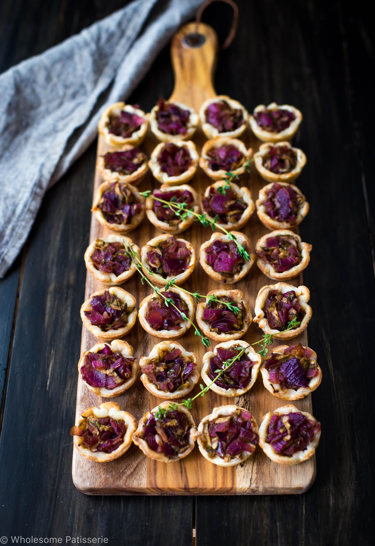 Onion Balsamic Zucchini Tartlets