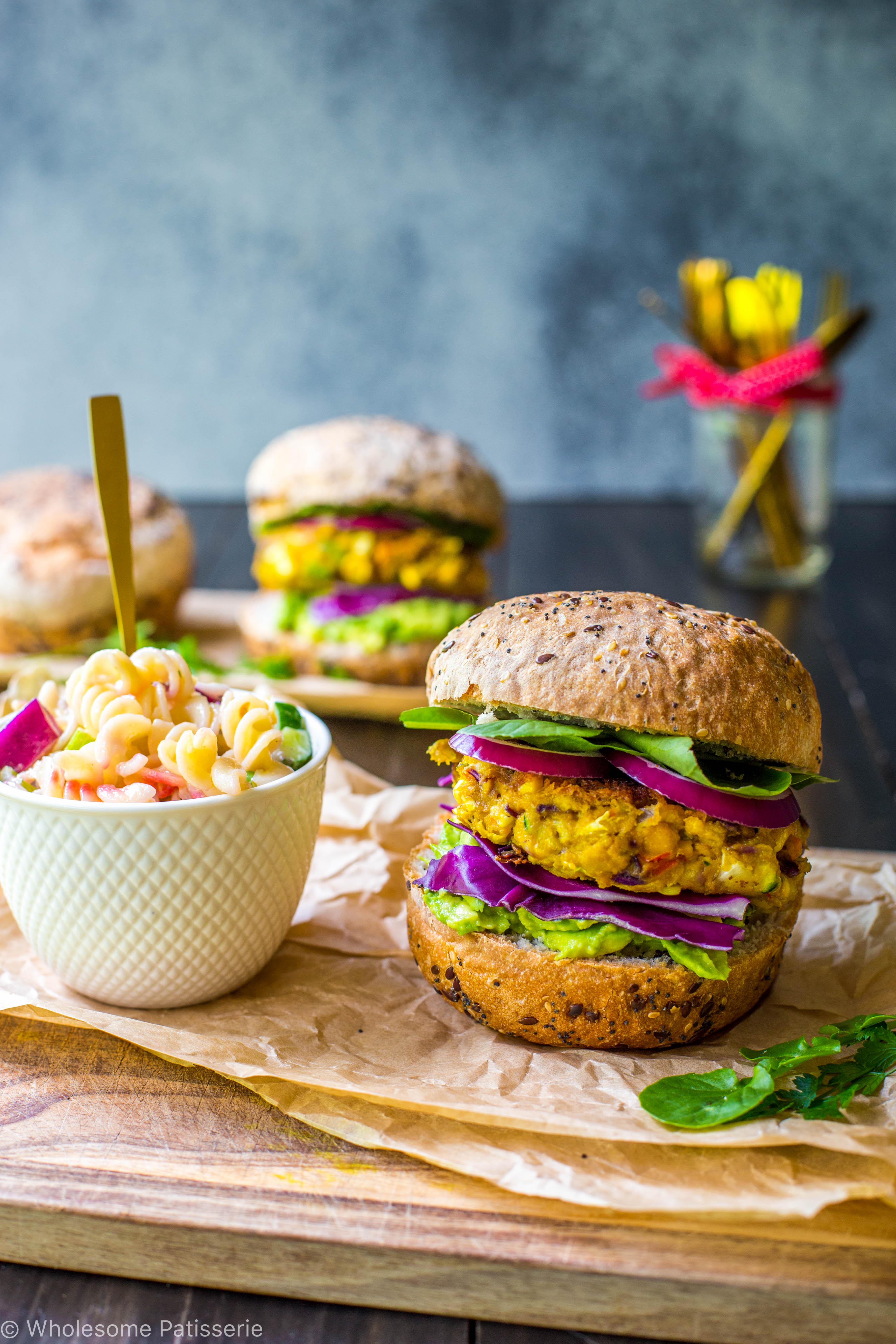 Rainbow Vegetable Burgers