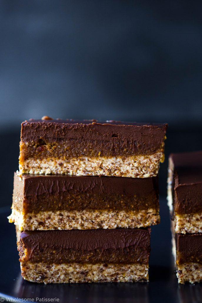 vegan-caramel-slice-raw-gluten-free-no-bake-healthy-chocolate