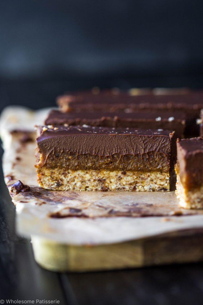 vegan-caramel-slice-raw-gluten-free-no-bake-healthy-chocolate-amazing