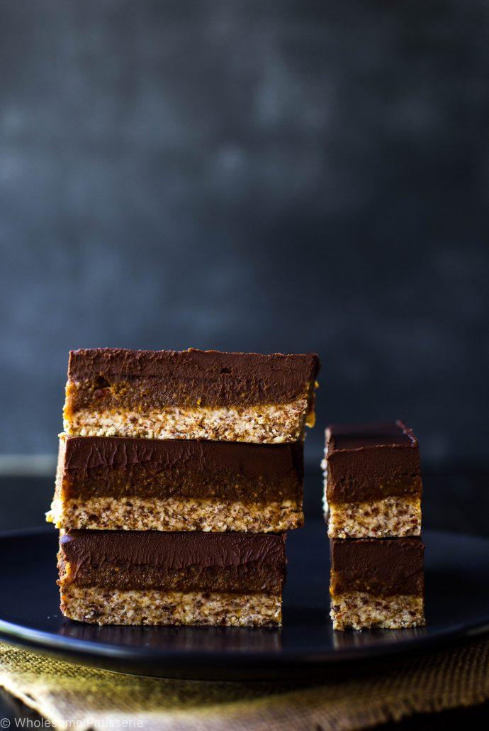 vegan-caramel-slice-raw-gluten-free-no-bake-healthy-chocolate-easy