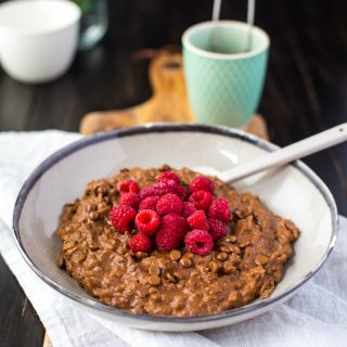 chocolate-raspberry-oatmeal-gluten-free-vegan-vegetarian-dairy-free-breakfast-healthy