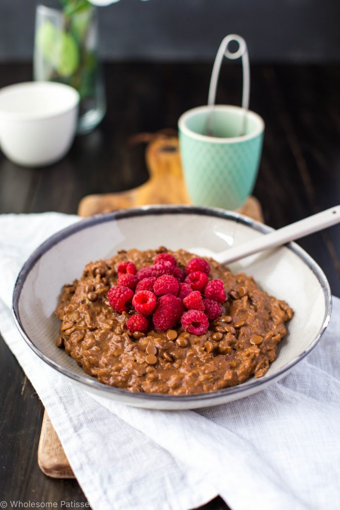 chocolate-raspberry-oatmeal-gluten-free-vegan-vegetarian-dairy-free-breakfast-healthy