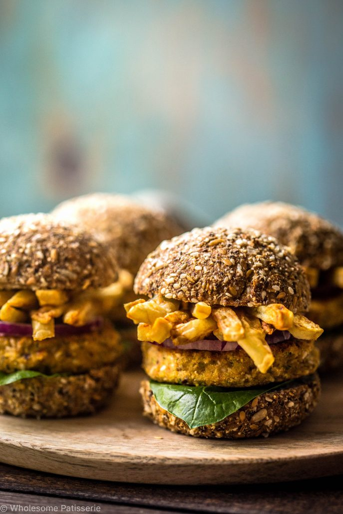 chickpea-sliders-with-french-fries-burgers-vegan-hamburger-gluten-free-mini-delicious-easy