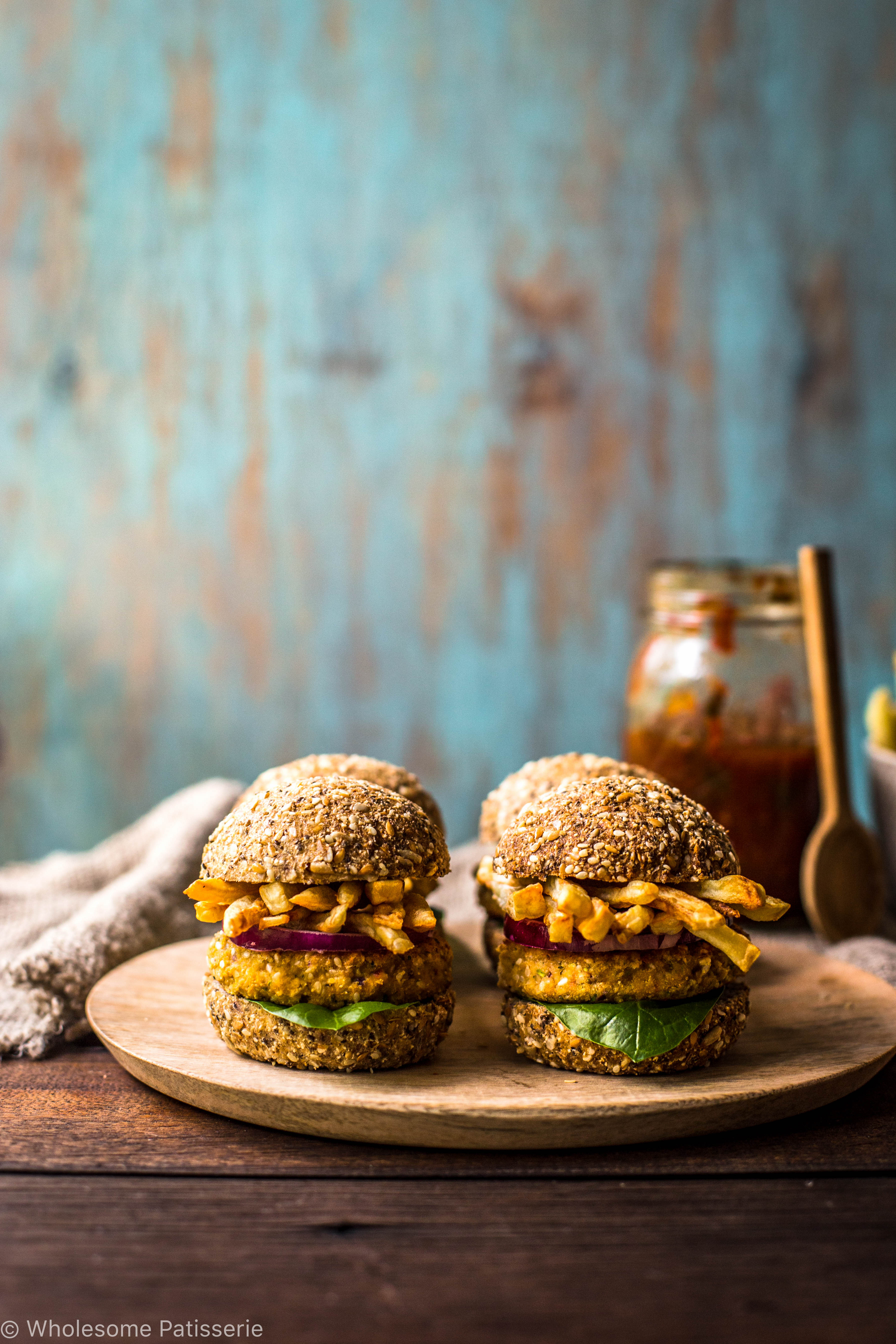chickpea-sliders-with-french-fries-burgers-vegan-hamburger-gluten-free-mini-delicious-vegetable