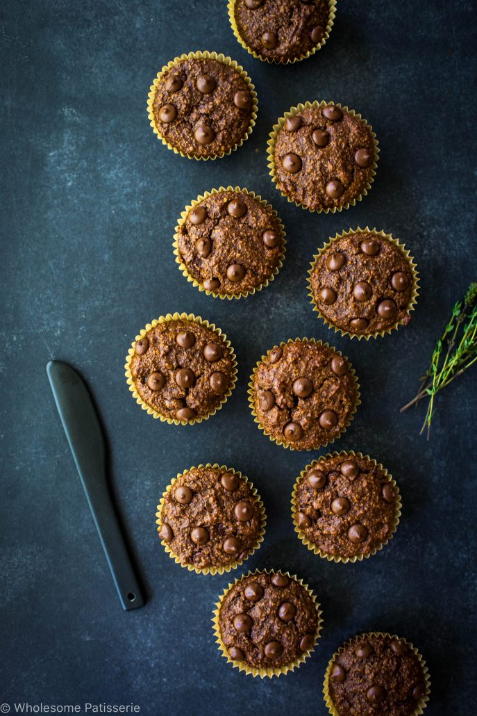 chocolate-chip-blender-muffins-gluten-free-vegan-vegetarian-delicious-easy-simple-cacao