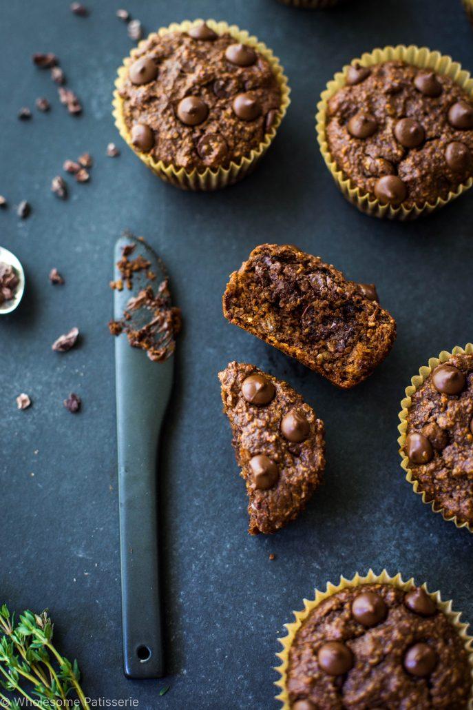 chocolate-chip-blender-muffins-gluten-free-vegan-vegetarian-delicious-easy-simple-flourless