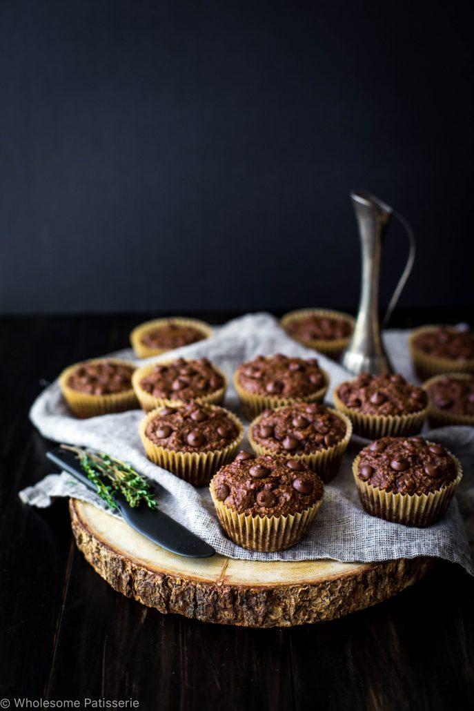 chocolate-chip-blender-muffins-gluten-free-vegan-vegetarian-delicious-easy-simple-vitamix