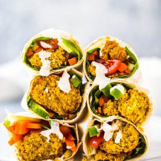 baked-falafels-vegan-tzatziki-dressing-wraps-salad-gluten-free-vegetarian-easy-dinner