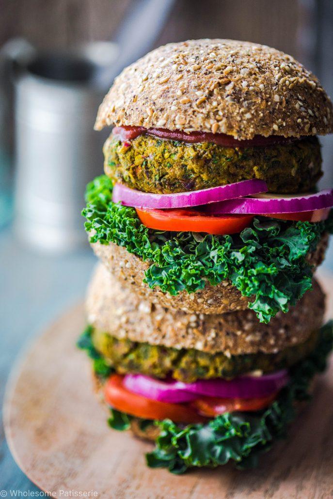 garden-veggie-burgers-vegan-gluten-free-delicious-vegetable-green-vegetarian-dinner