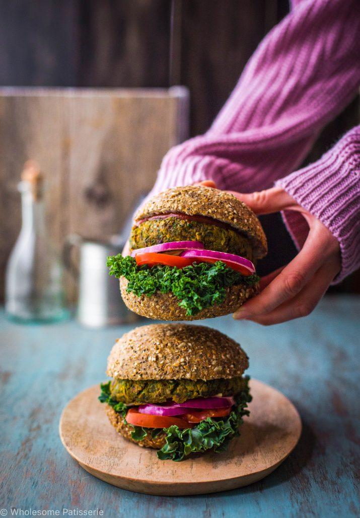 garden-veggie-burgers-vegan-gluten-free-delicious-vegetable-green-vegetarian-spinach