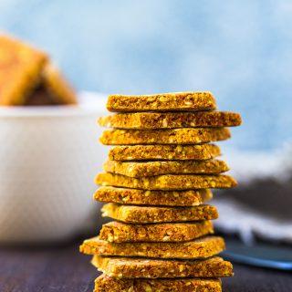 Gluten Free Turmeric Crackers (Vegan)