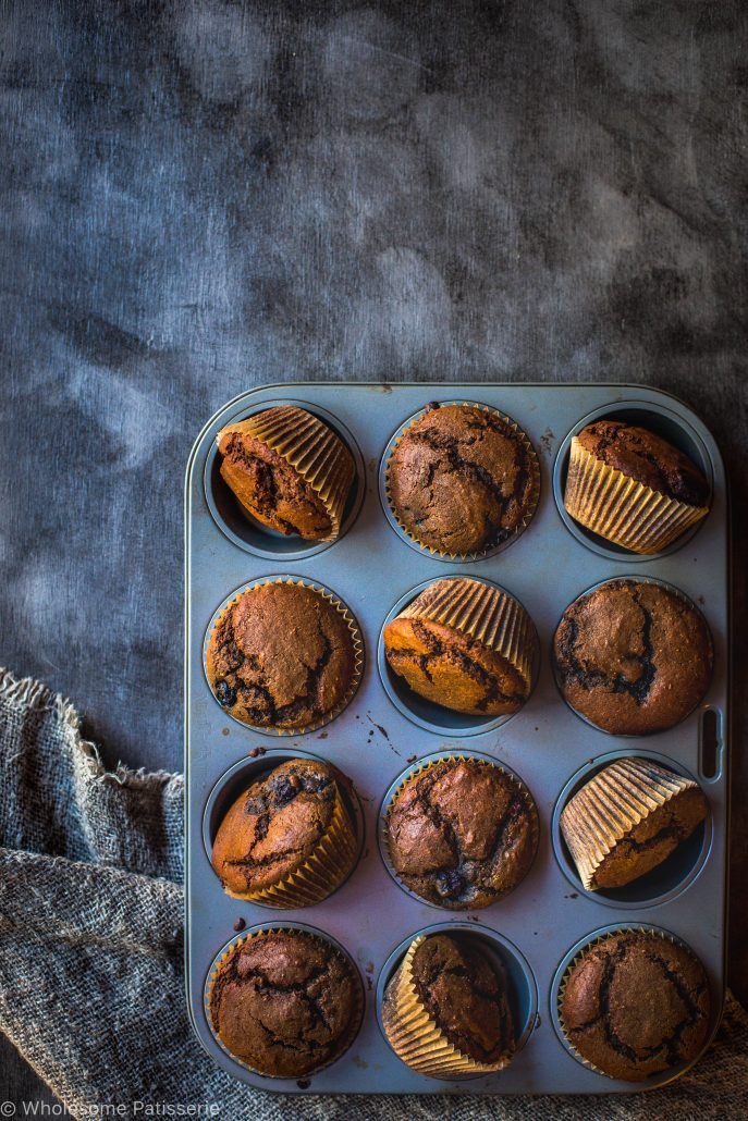 chocolate-blueberry-muffins-gluten-free-dairy-free-kids-snack-work-breakfast-easy-baking-morning