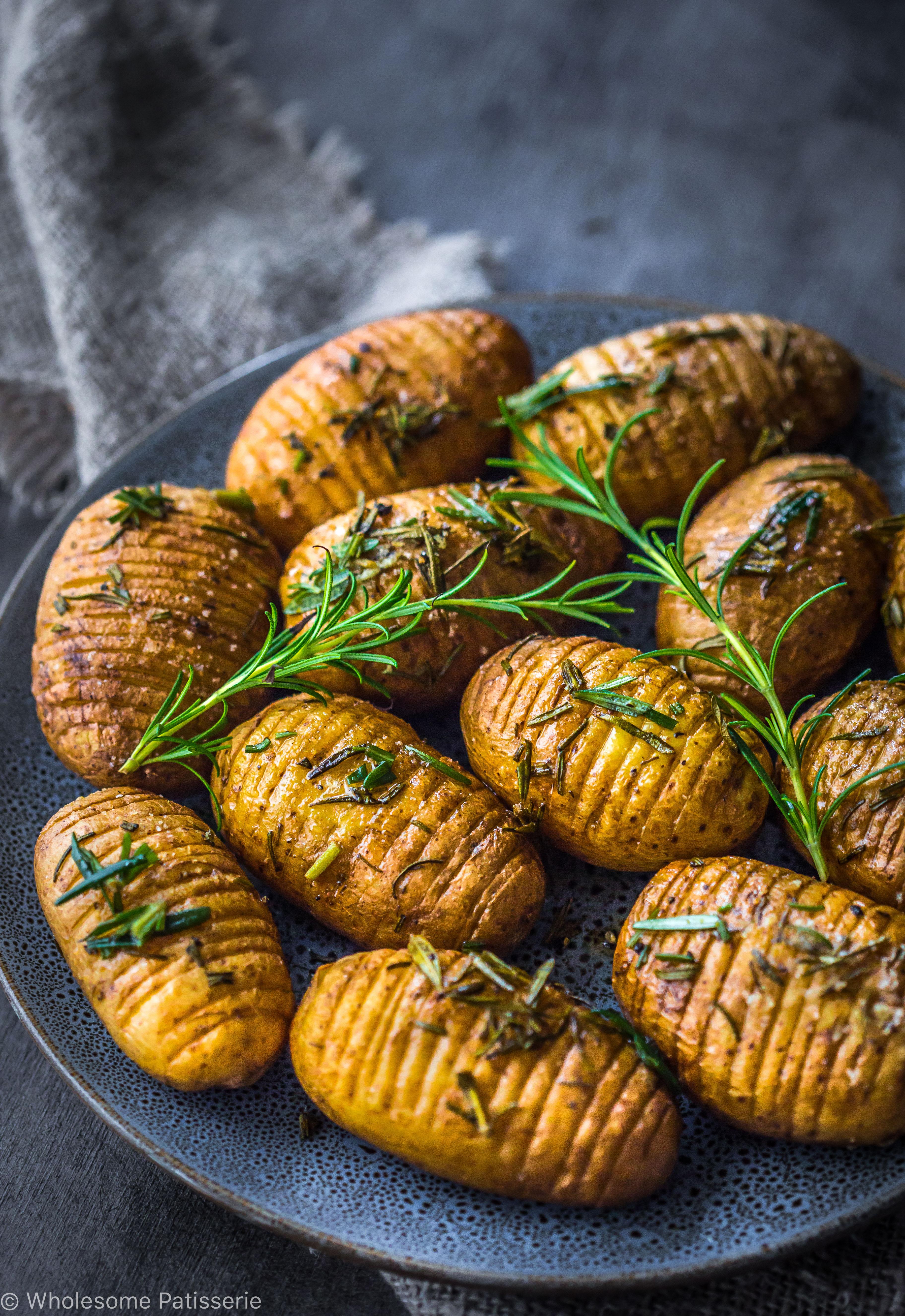 Rosemary + Garlic Mini Hasselback Potatoes