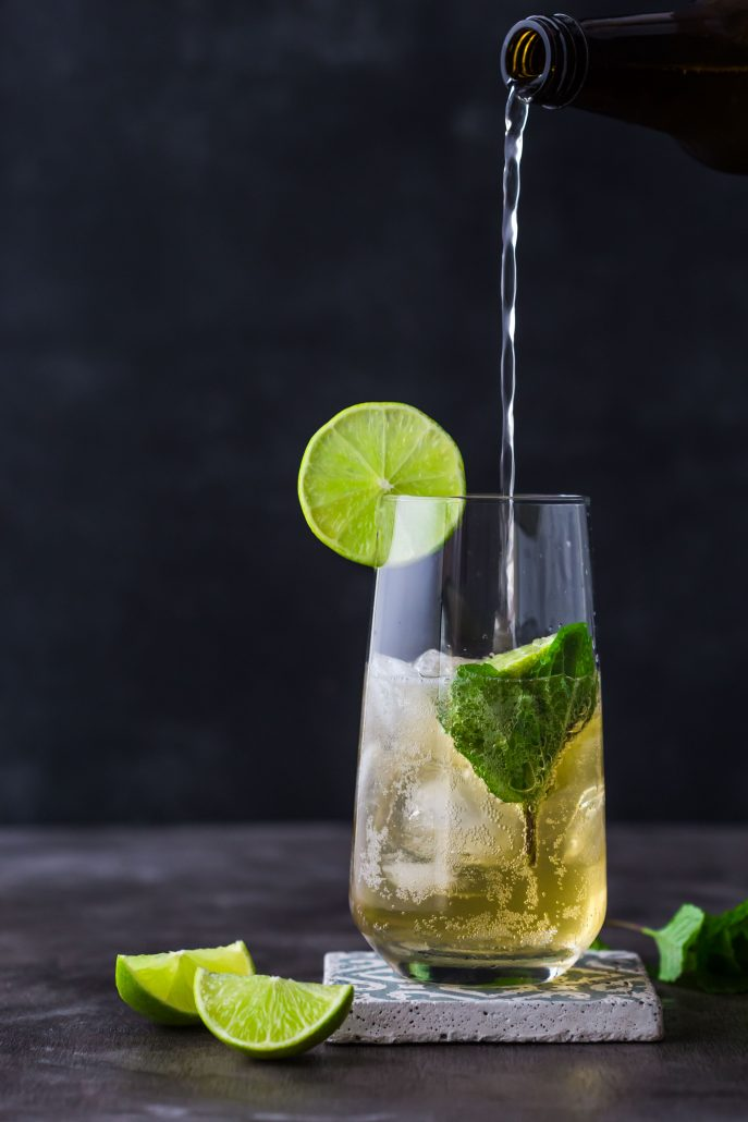 apple-kombucha-mojito-non-alcoholic-beverage-weekend-party-lime-mint