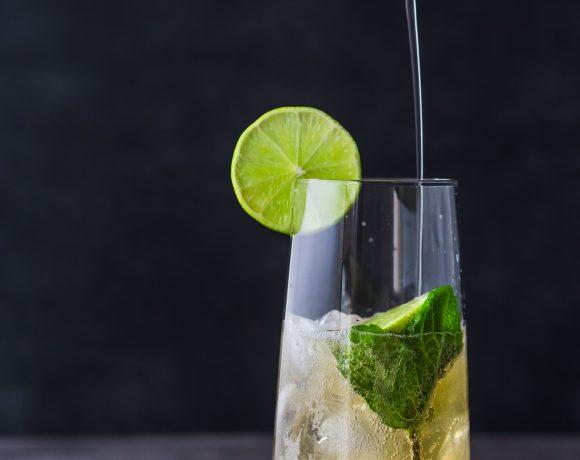 Apple Kombucha Mojito (non-alcoholic)