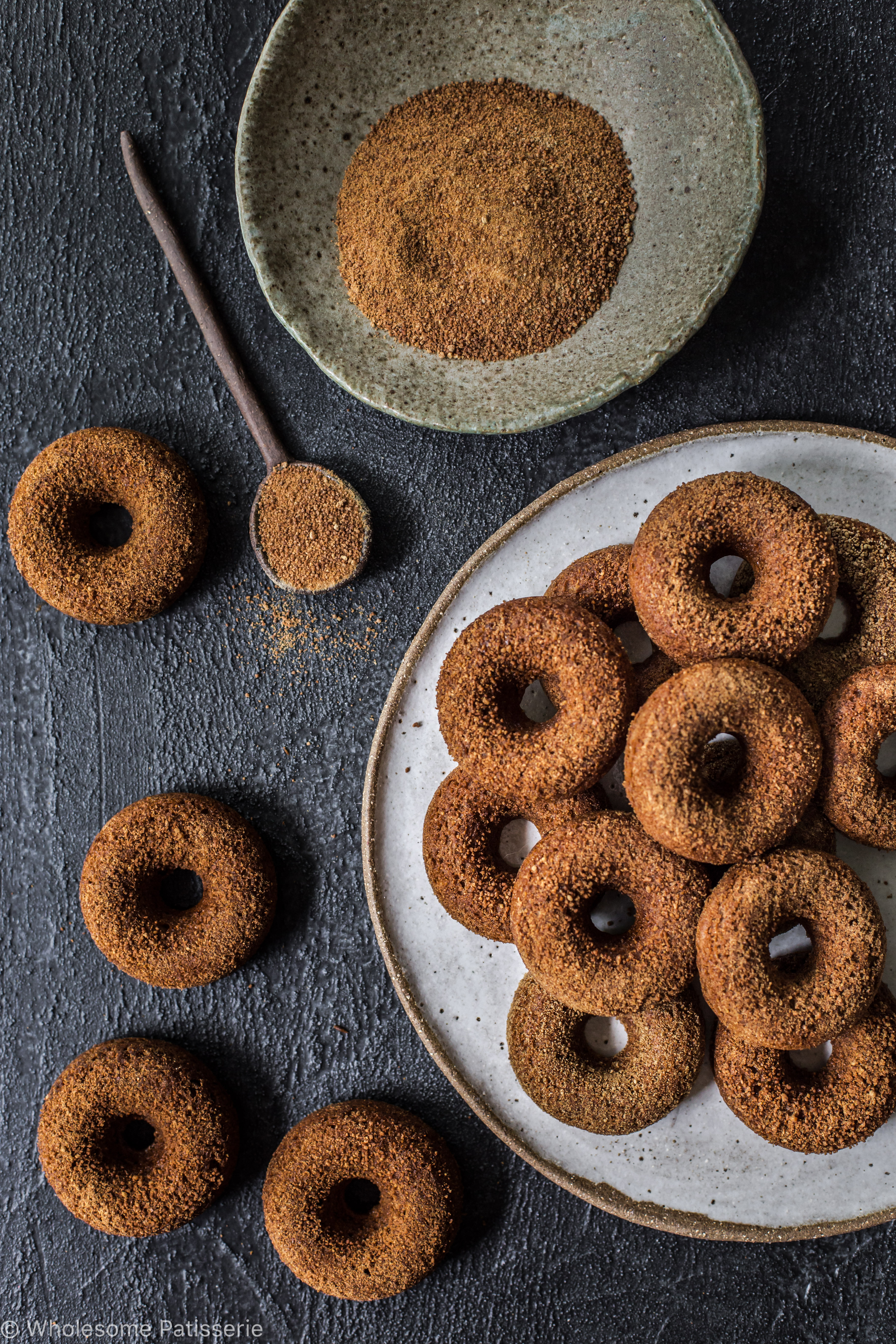 Baked Cinnamon Donuts (vegan & gluten free)