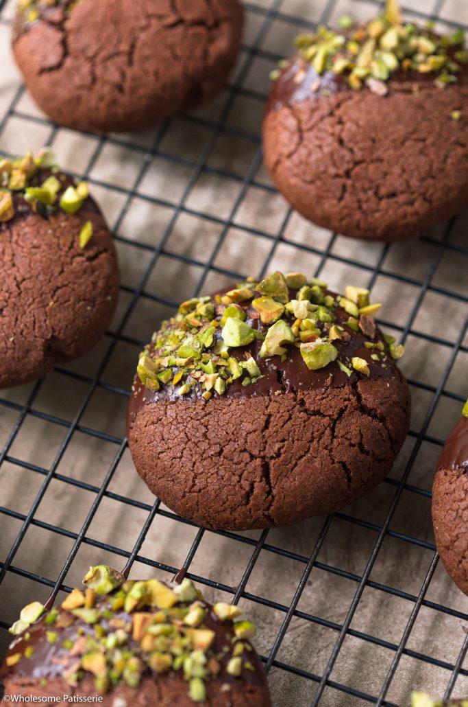 Chocolate-pistachio-cookies-gluten-free-easter-baking-easy-cookie-recipe-kids