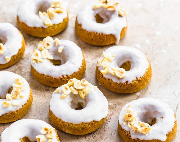 Baked Coconut Hazelnut Vegan Donuts