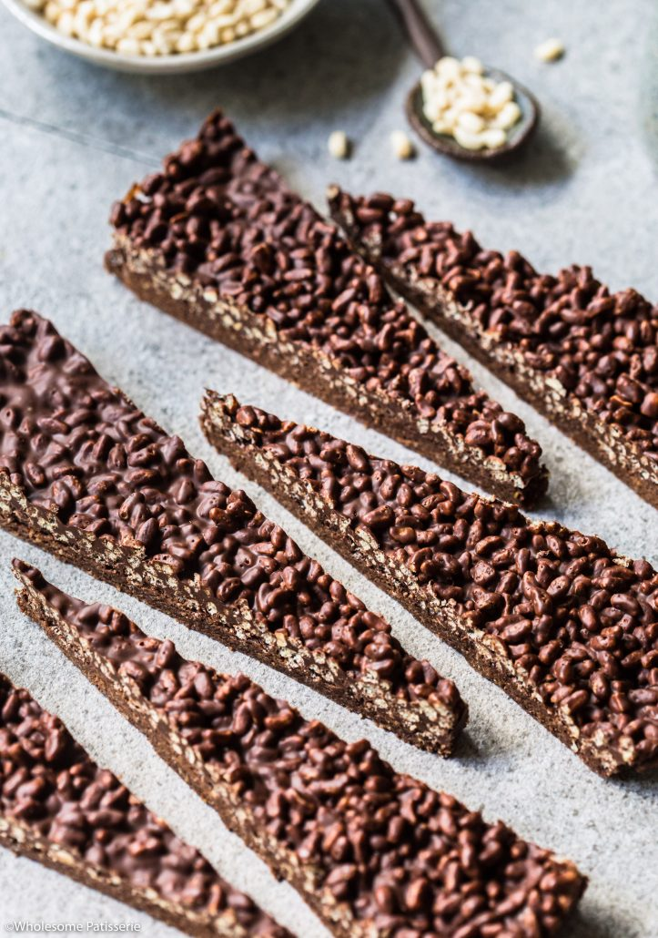 Chocolate Crackle Bark Slice! Just like chocolate crackles, only thinner! #vegan #glutenfree #chocolatecrackle #snack