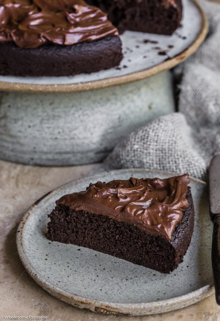 Chocolate Ganache Cake! Gluten & Dairy Free paired with a luscious coconut cream chocolate ganache frosting! #chocolatecake #chocolateganche #glutenfree #dairyfree