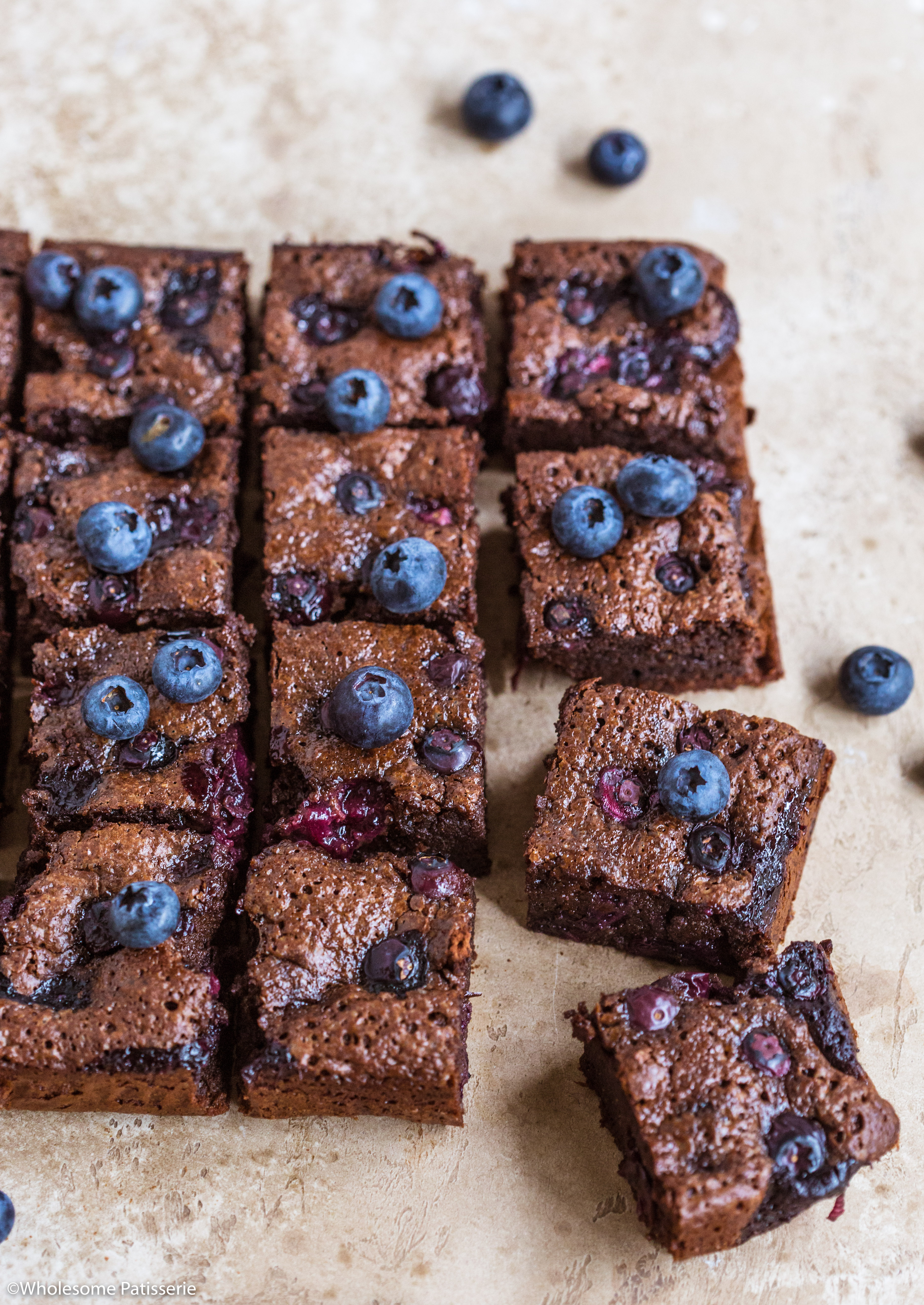 Blueberry Chocolate Brownies