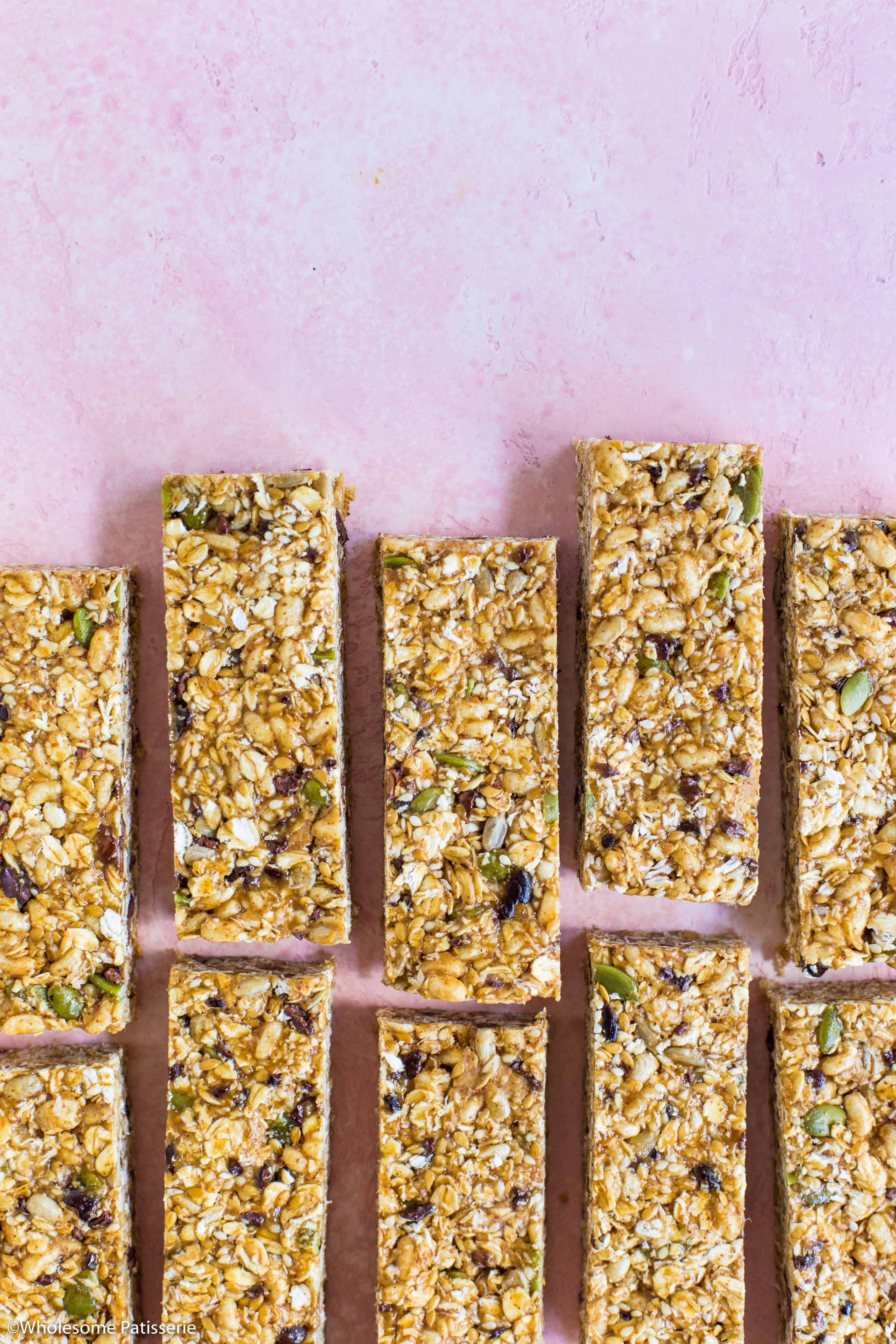 No-Bake Seeded Granola Bars