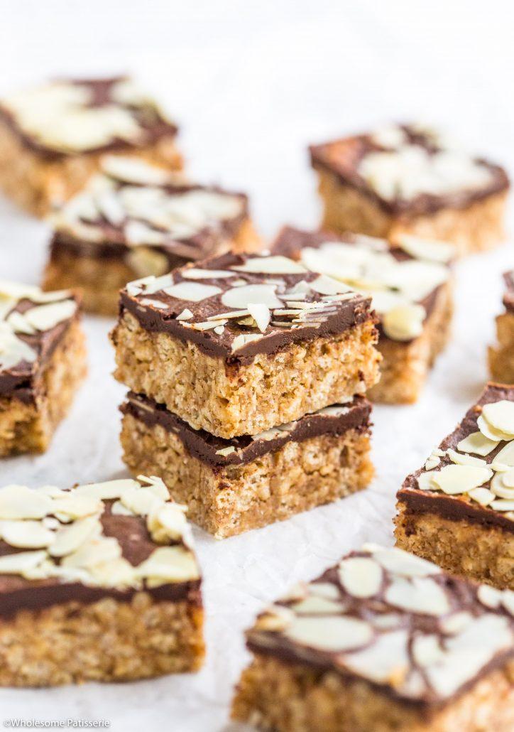 Almond-butter-crispy-chocolate-bars-gluten-free-vegan-no-bake-easy-delicious-5