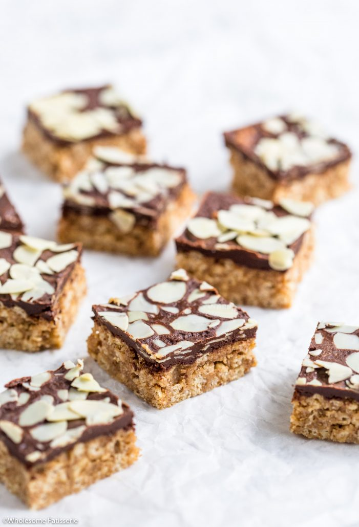 Almond-butter-crispy-chocolate-bars-gluten-free-vegan-no-bake-easy-delicious