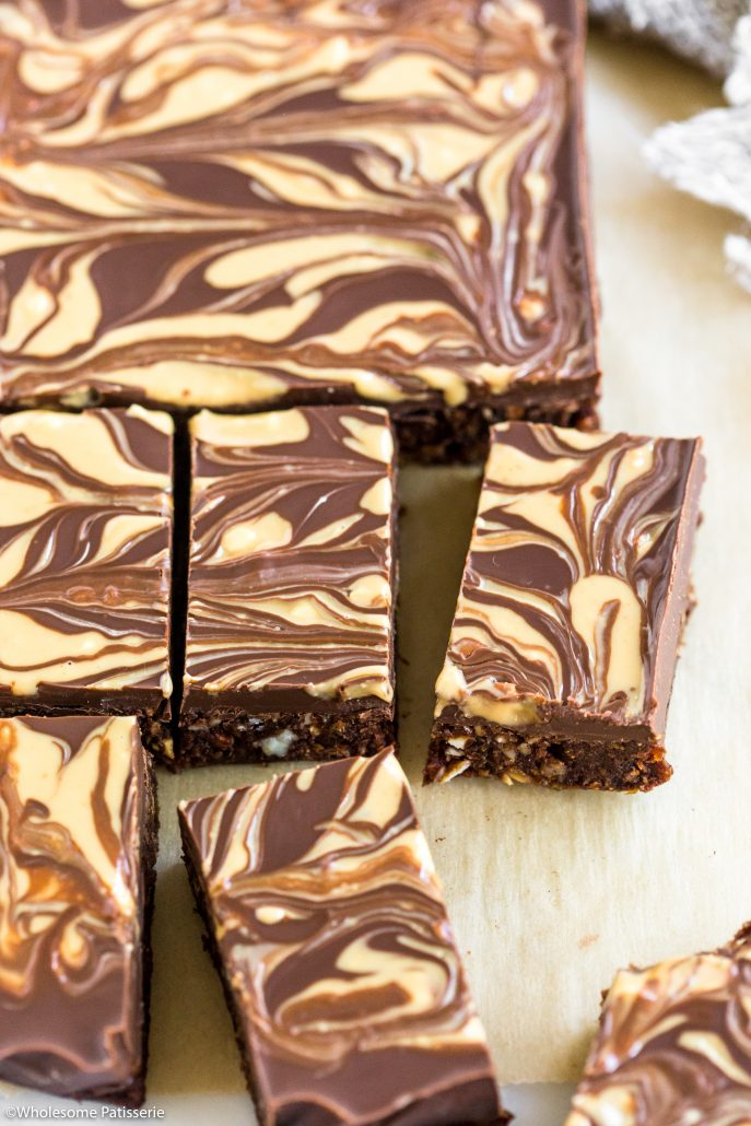 No-bake-peanut-butter-chocolate-brownies-delicious-easy-simple-quick-5