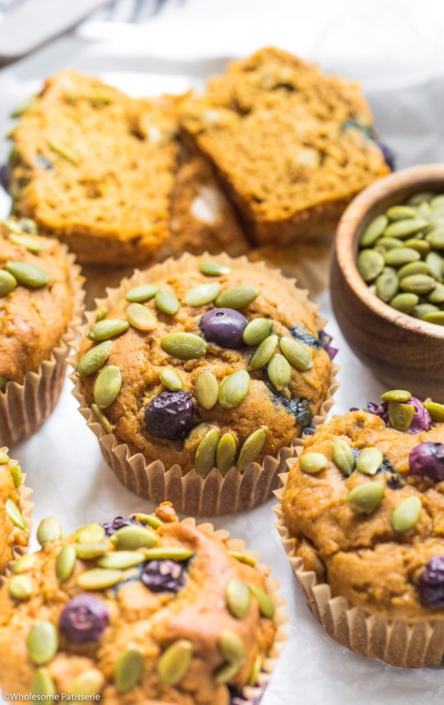 Pumpkin-blueberry-muffins-gluten-free-muffins-baking-easy-simple-quick-breakfast-muffins-kids