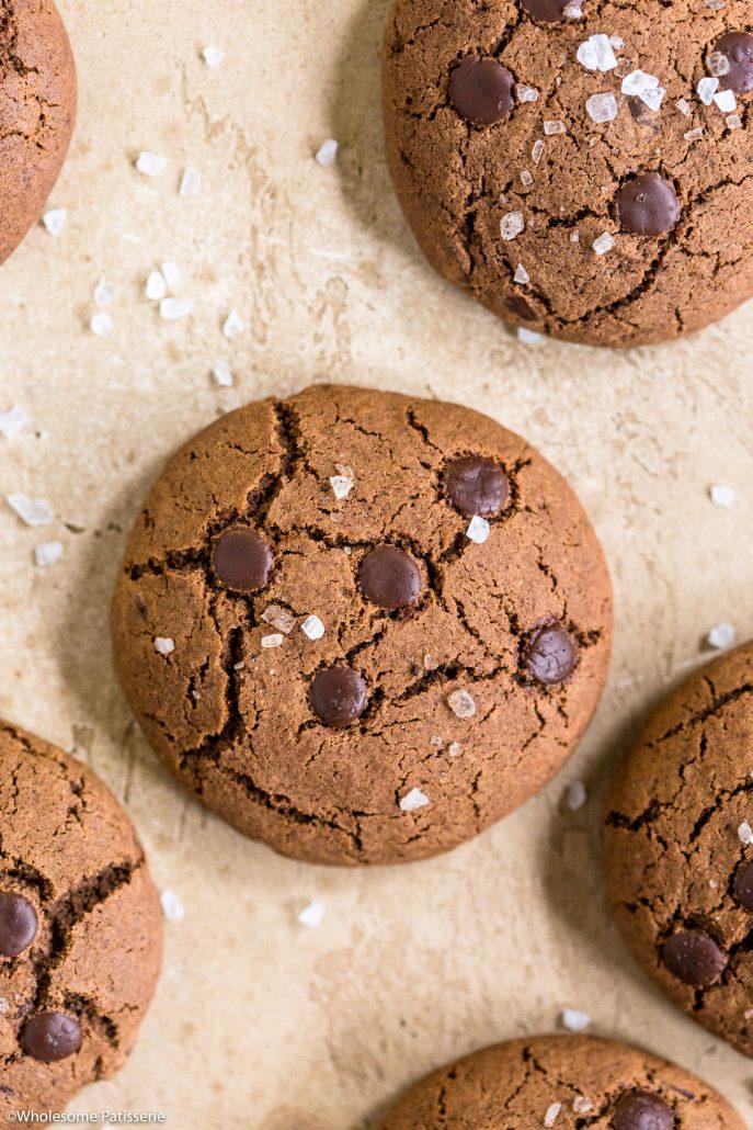 Salted-chocolate-cookies-gluten-free-baking-easy-snack-simple-fast-cookie-simple