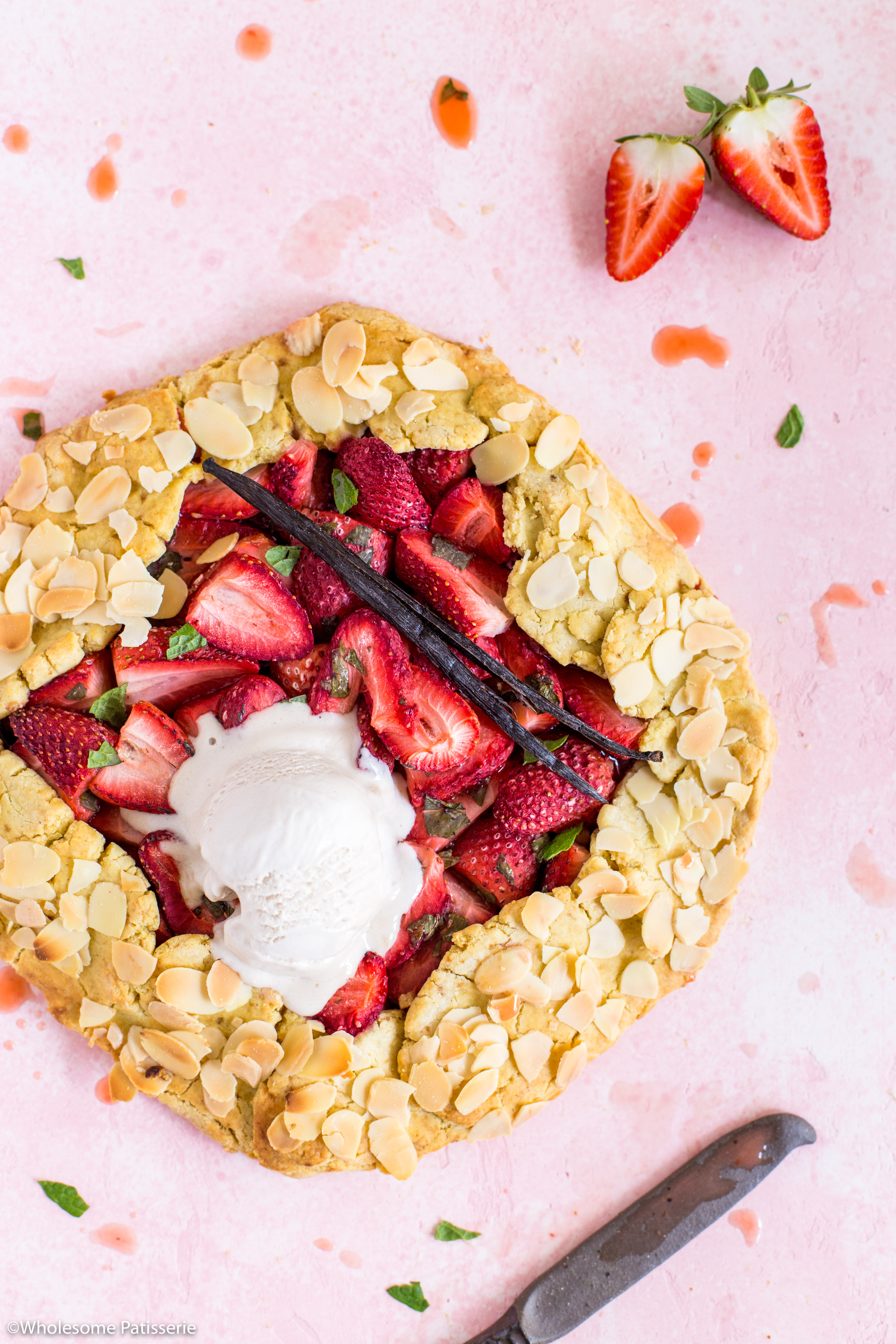 Strawberry Mint & Almond Galette