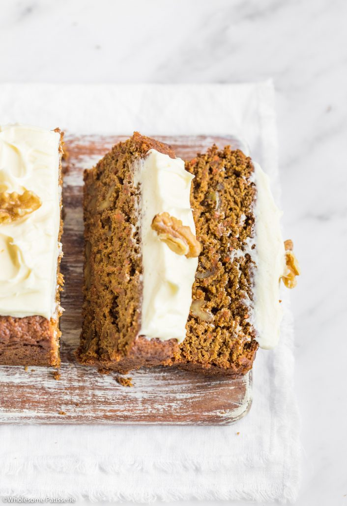 Carrot-cake-loaf-cream-cheese-frosting-gluten-free-carrot-cake-vegetarian