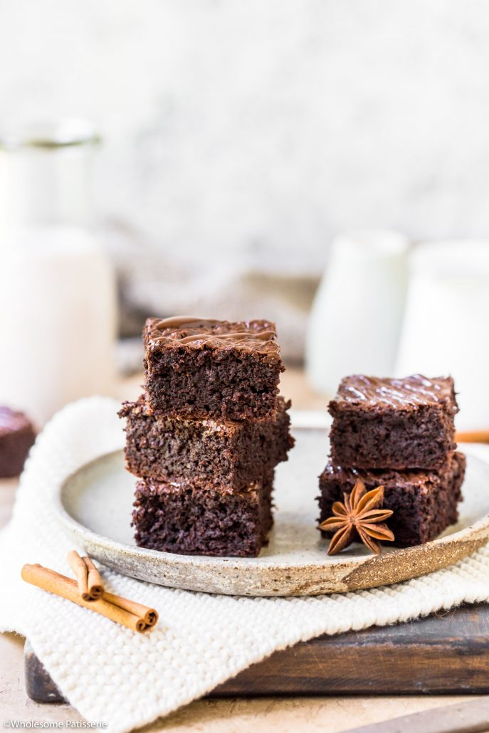 Chai-chocolate-brownies-gluten-free-brownies-under-10-ingredients-easy-delicious-simple