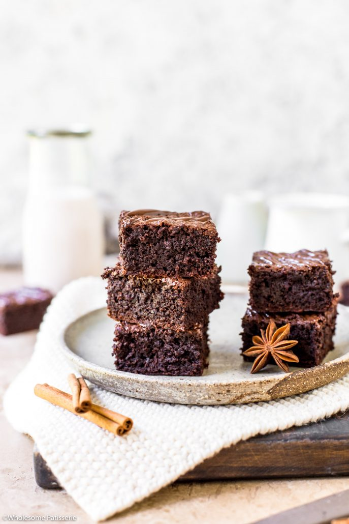 Chai-chocolate-brownies-gluten-free-brownies-under-10-ingredients-easy-delicious-simple-baking