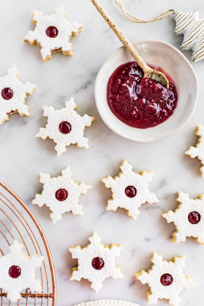 Linzer-cookies-christmas-cookies-baking-holidays-festive-jam-gluten-free-dough-shortbread
