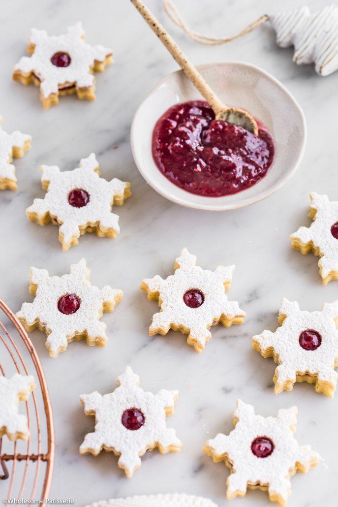 Linzer-cookies-christmas-cookies-baking-holidays-festive-jam-gluten-free-dough-shortbread-festive