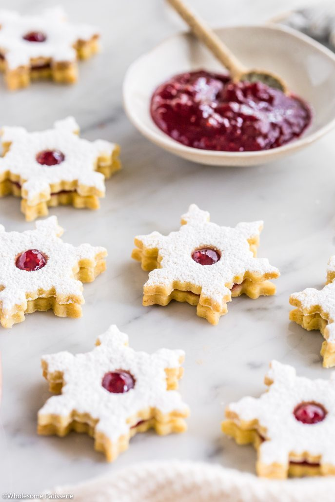 Linzer-cookies-christmas-cookies-baking-holidays-festive-jam-gluten-free-dough-shortbread-homemade