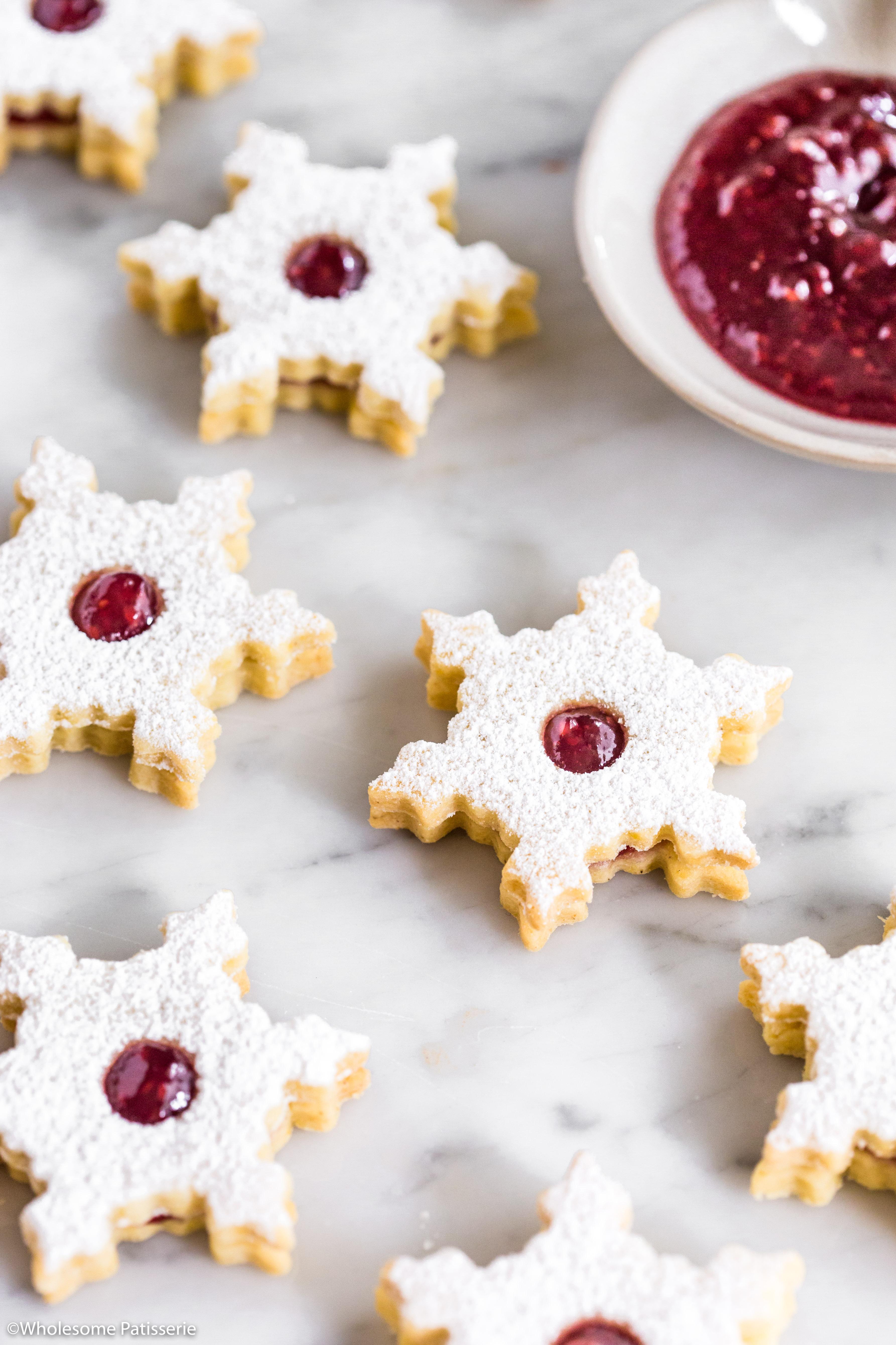 Linzer Cookies Christmas Cookies Baking Holidays Festive Jam Gluten